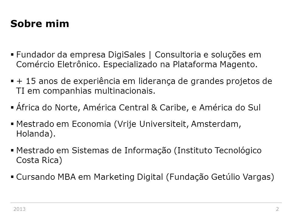 Sobre mim  Fundador da empresa DigiSales | Consultoria e soluções em Comércio Eletrônico. Especializado na Plataforma Magento.  + 15 anos de experiê