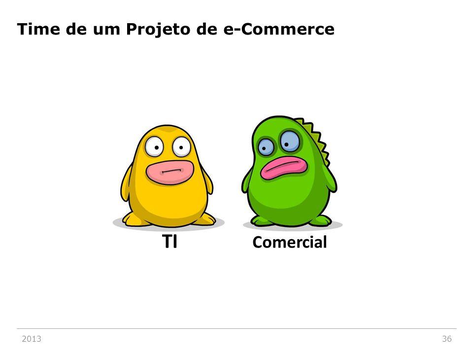 Time de um Projeto de e-Commerce 201336 TI Comercial