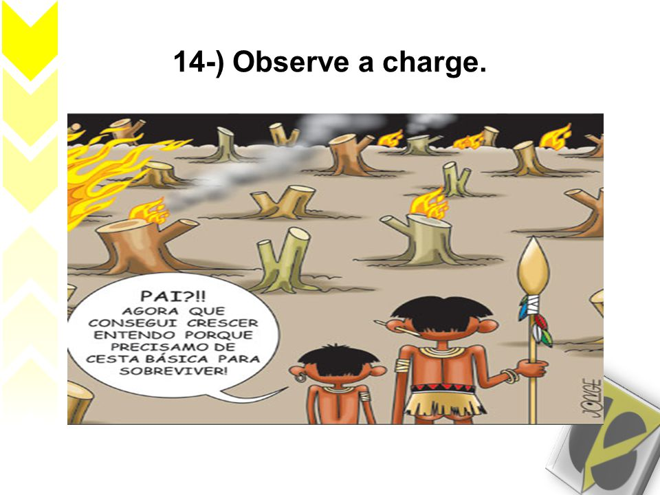 14-) Observe a charge.