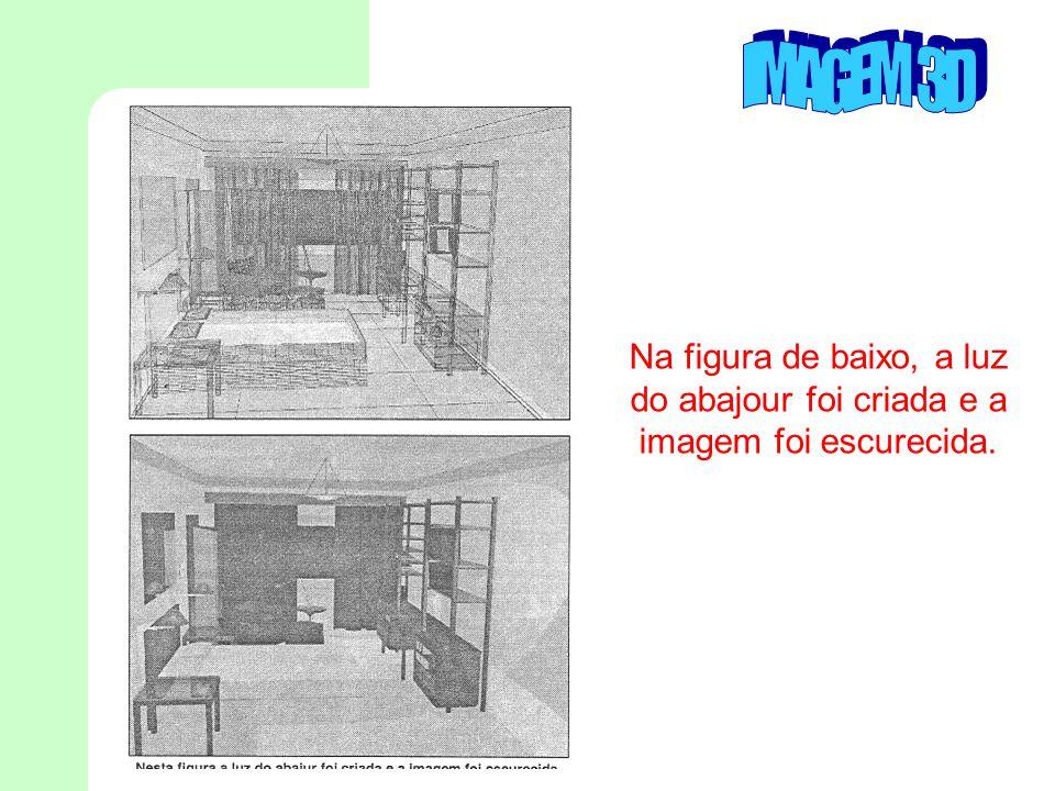 Na figura de baixo, a luz do abajour foi criada e a imagem foi escurecida.