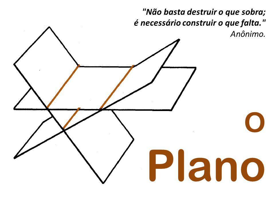 Não basta destruir o que sobra; é necessário construir o que falta. Anônimo. O Plano