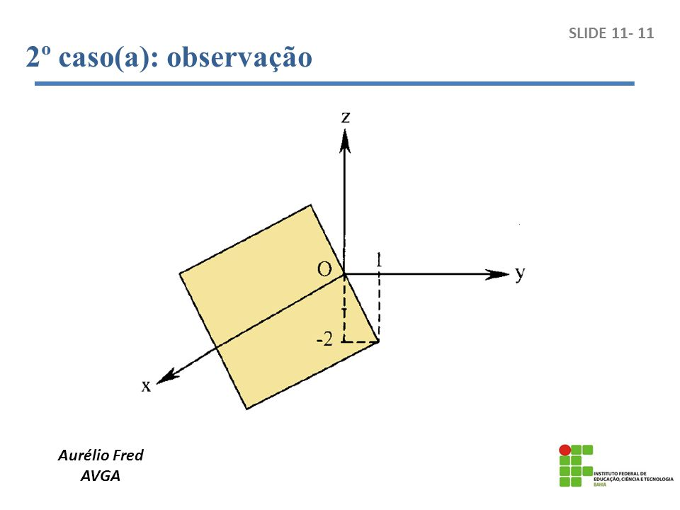 Aurélio Fred AVGA SLIDE 11- 11 2º caso(a): observação