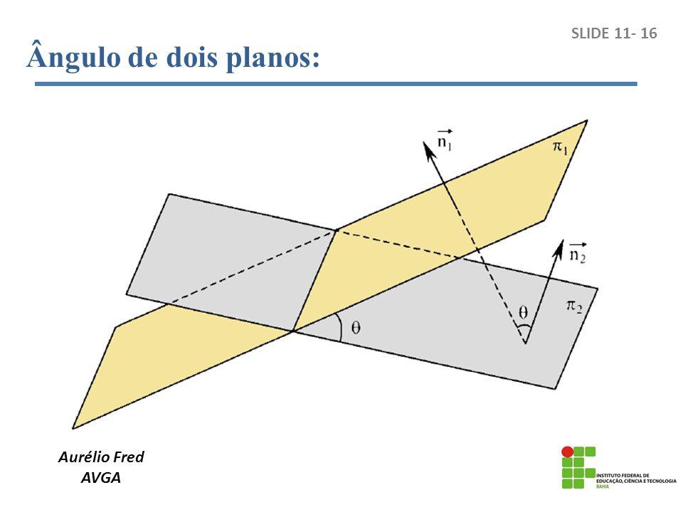 Aurélio Fred AVGA SLIDE 11- 16 Ângulo de dois planos: