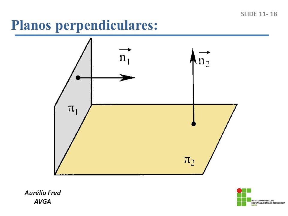 Aurélio Fred AVGA SLIDE 11- 18 Planos perpendiculares: