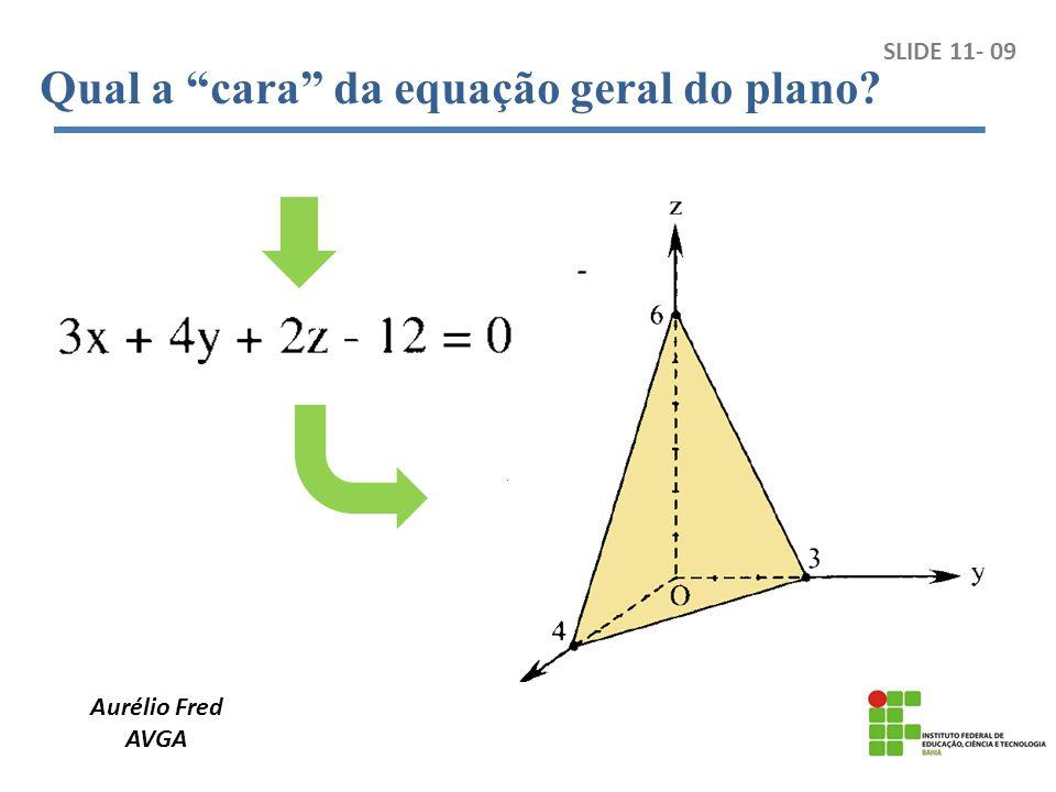 Aurélio Fred AVGA SLIDE 11- 20 Paralelismo entre reta e plano: