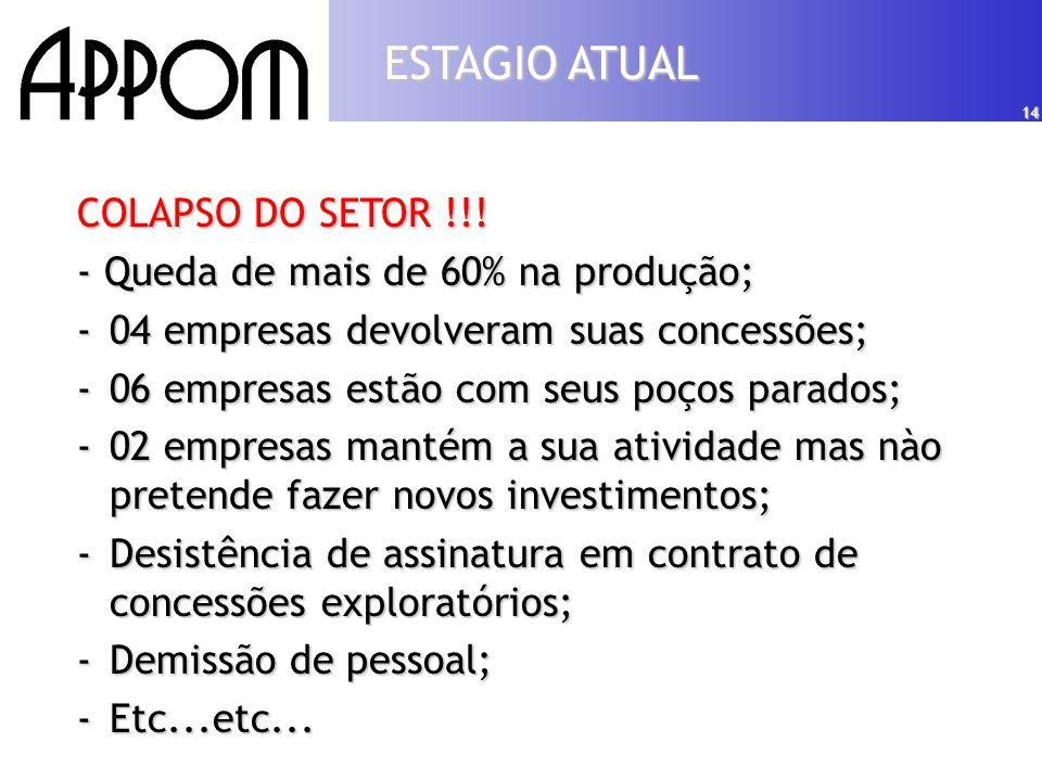 14 COLAPSO DO SETOR !!.