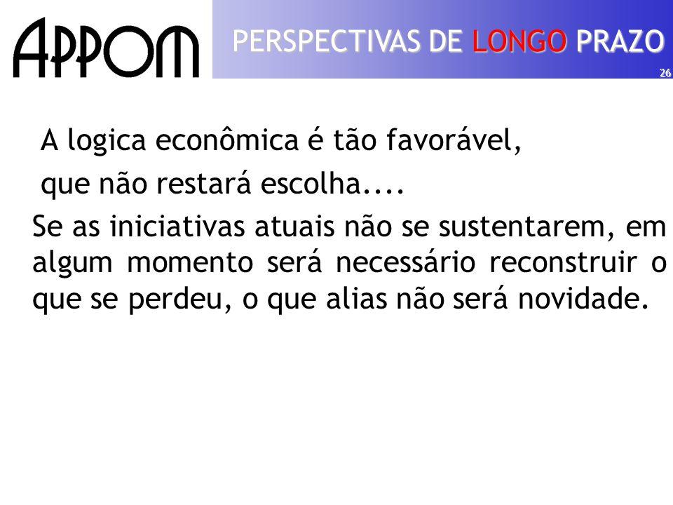 26 A logica econômica é tão favorável, que não restará escolha....