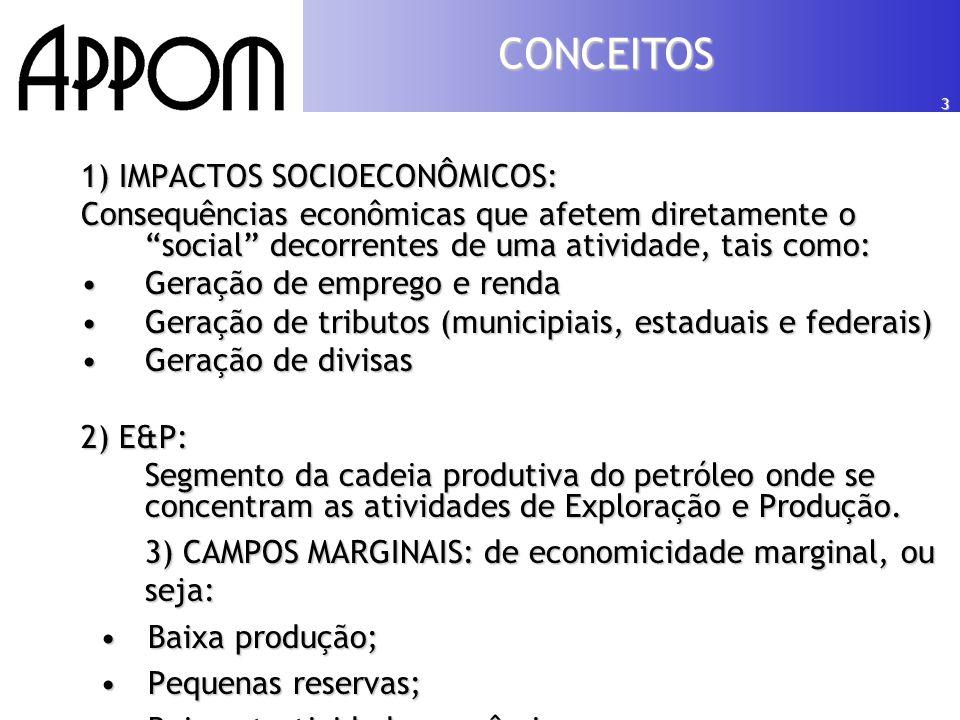 4 •ESCOPO: Avaliar os impactos socioeconômicos em decorrência da revitalização de campos produtores de petróleo e gás natural de baixa economicidade do Brasil.