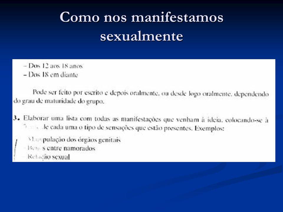 Como nos manifestamos sexualmente