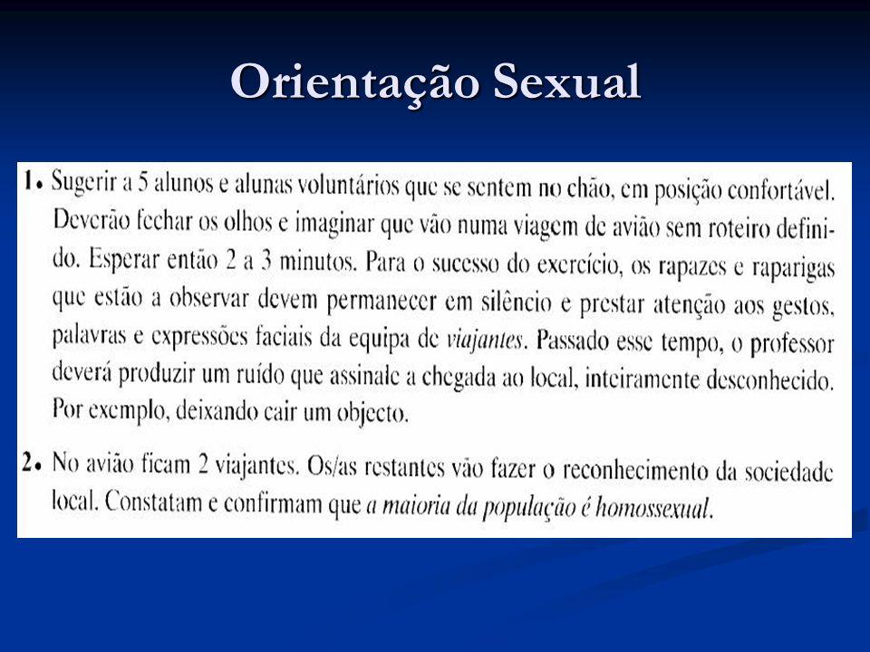 Orientação Sexual – cont.