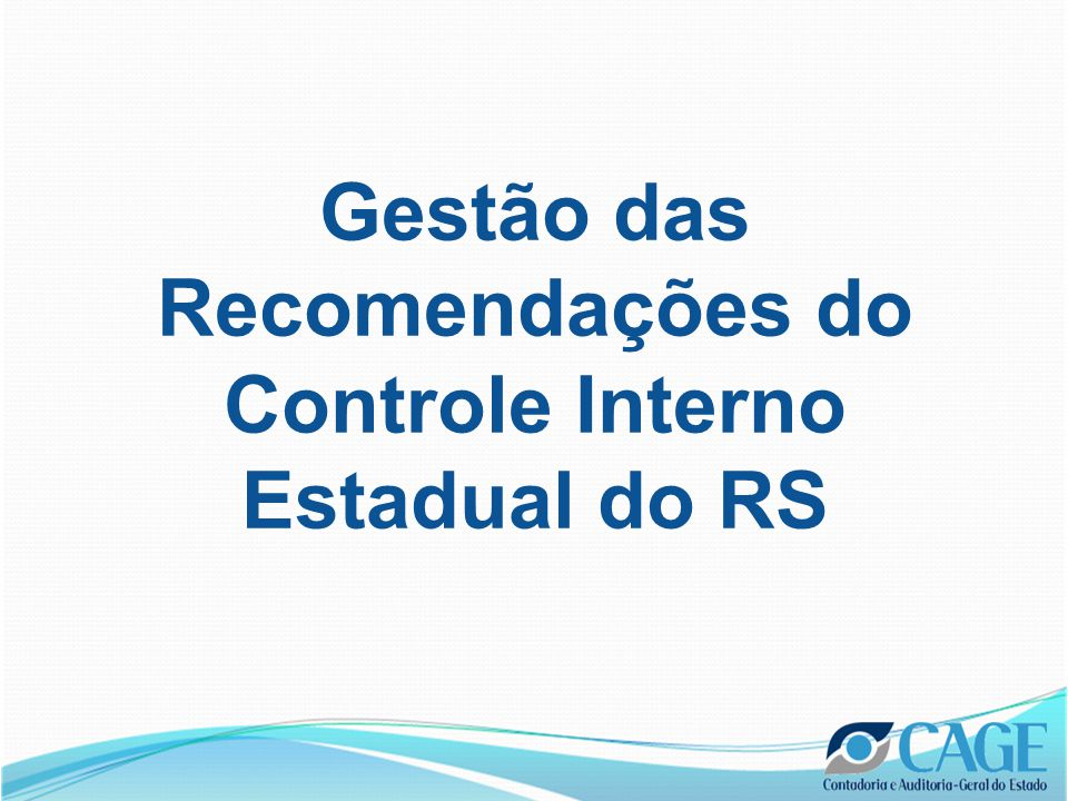 Paper •Ensaio elaborado para conclusão do Curso Theory and Operation of a Modern National Economy na George Washington University •Título Framework for Management of Internal Control Recommendations: A Case Study of the State of Rio Grande do Sul