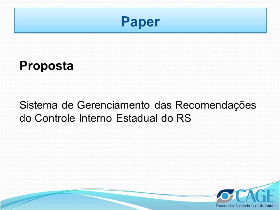 Proposta Sistema de Gerenciamento das Recomendações do Controle Interno Estadual do RS Paper