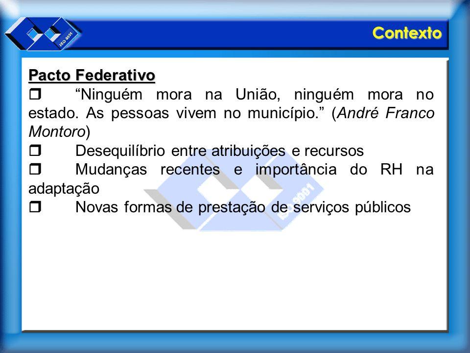 """Contexto Pacto Federativo  """"Ninguém mora na União, ninguém mora no estado. As pessoas vivem no município."""" (André Franco Montoro)  Desequilíbrio ent"""