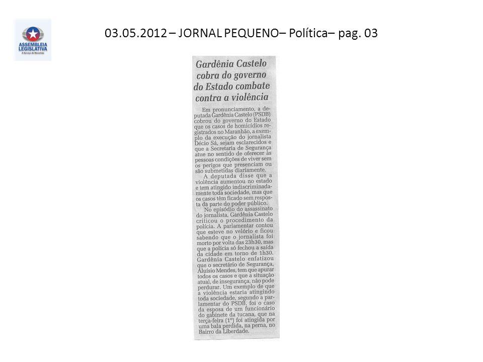 03.05.2012– Extra– Política – pag. 03