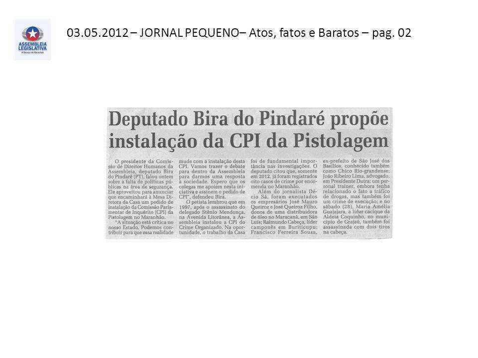 03.05.2012– Correio de Notícias– Cidade – pag. 06