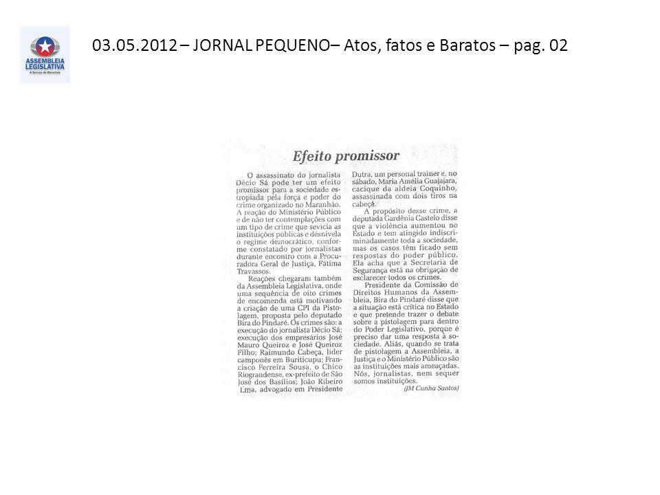 03.05.2012 – O Imparcial– Política– pag. 03