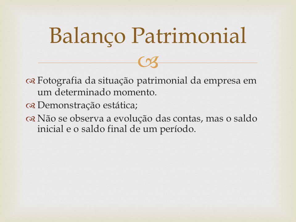  Balanço Patrimonial  Estrutura Conforme Lei 6.404/76 (artigos 176 a 182 e artigo 187) e NBC T.3, e suas alterações o Balanço Patrimonial é constituído pelo Ativo, pelo Passivo e pelo Patrimônio Líquido.