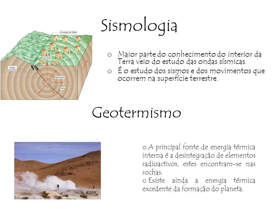 Sismologia o Maior parte do conhecimento do interior da Terra veio do estudo das ondas sísmicas.