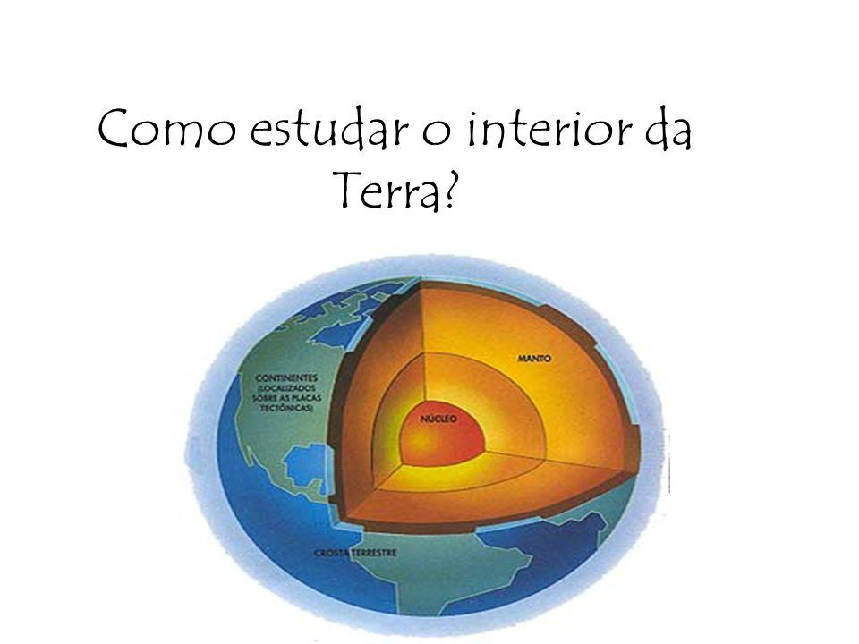 Como estudar o interior da Terra?