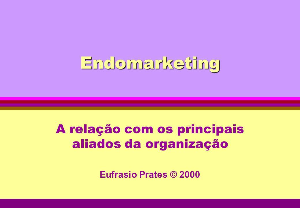 Endomarketing A relação com os principais aliados da organização Eufrasio Prates © 2000