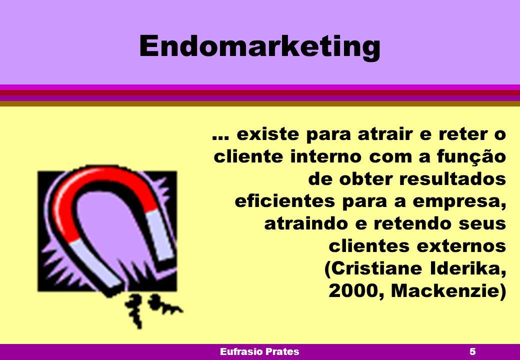 Eufrasio Prates5 Endomarketing... existe para atrair e reter o cliente interno com a função de obter resultados eficientes para a empresa, atraindo e