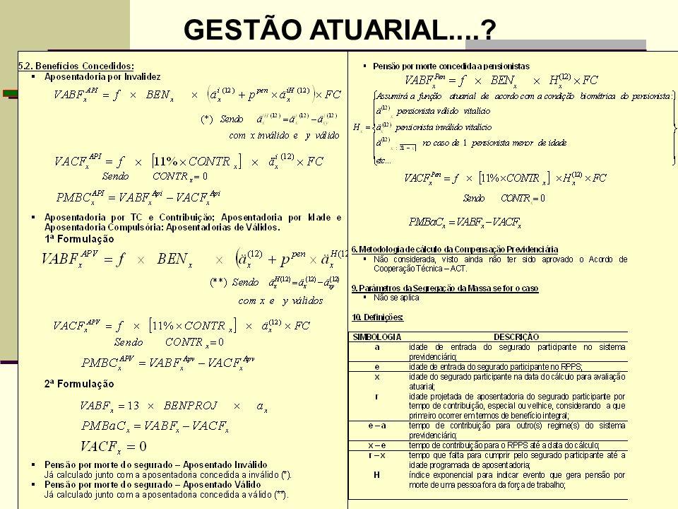 GESTÃO ATUARIAL....?