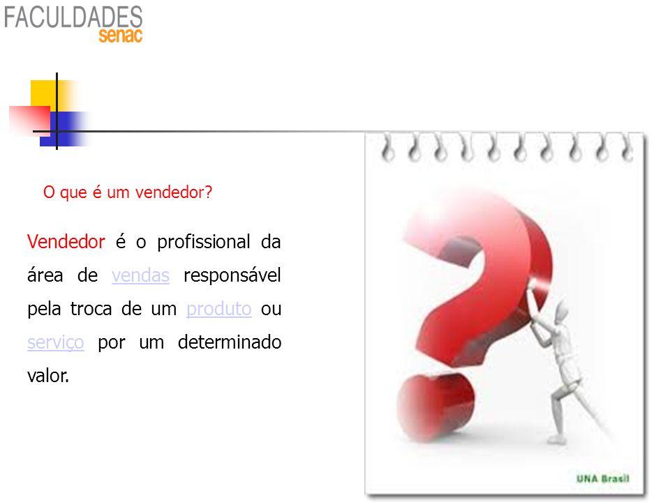 Vendedor é o profissional da área de vendas responsável pela troca de um produto ou serviço por um determinado valor.vendasproduto serviço O que é um