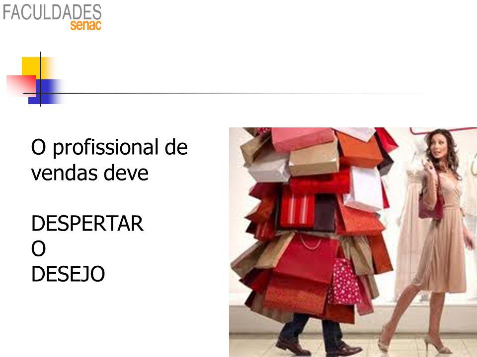 O profissional de vendas deve DESPERTAR O DESEJO