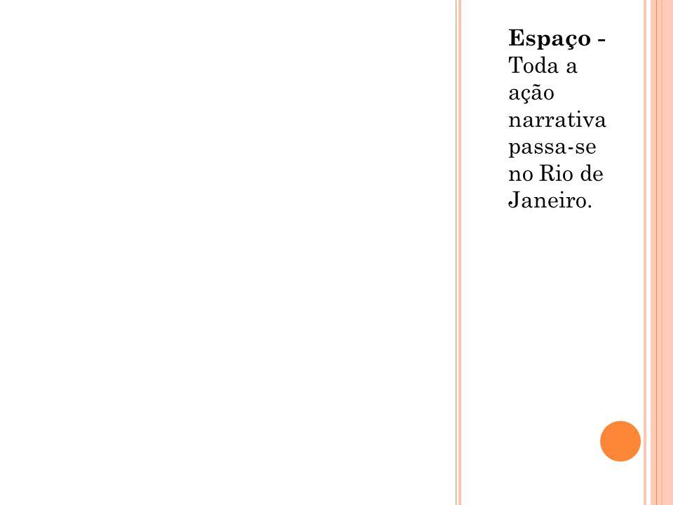 Espaço - Toda a ação narrativa passa-se no Rio de Janeiro.