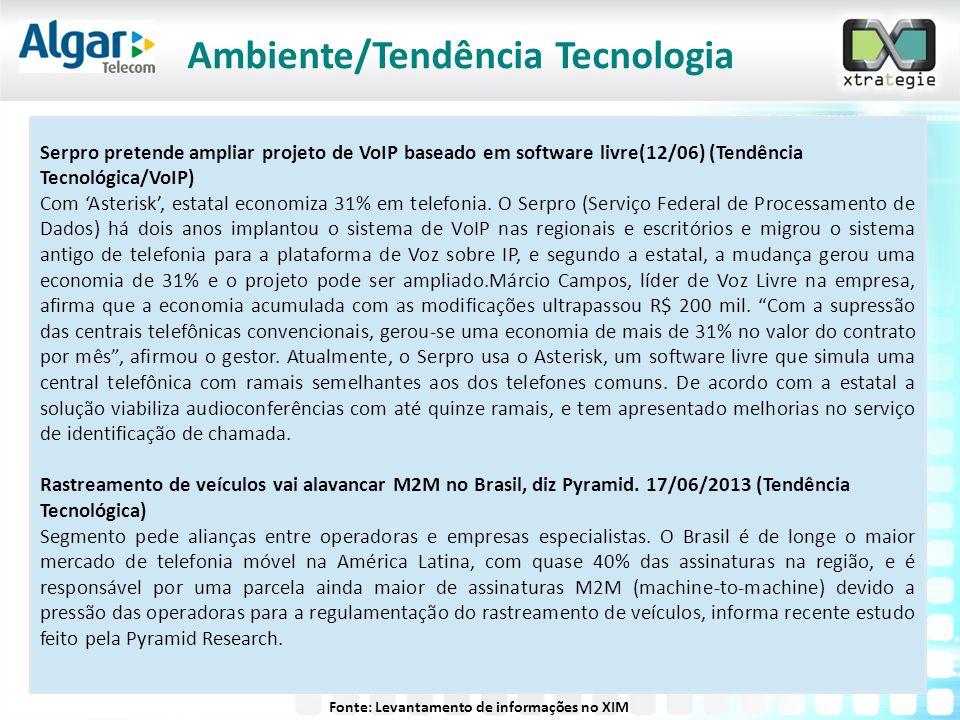 Serpro pretende ampliar projeto de VoIP baseado em software livre(12/06) (Tendência Tecnológica/VoIP) Com 'Asterisk', estatal economiza 31% em telefon