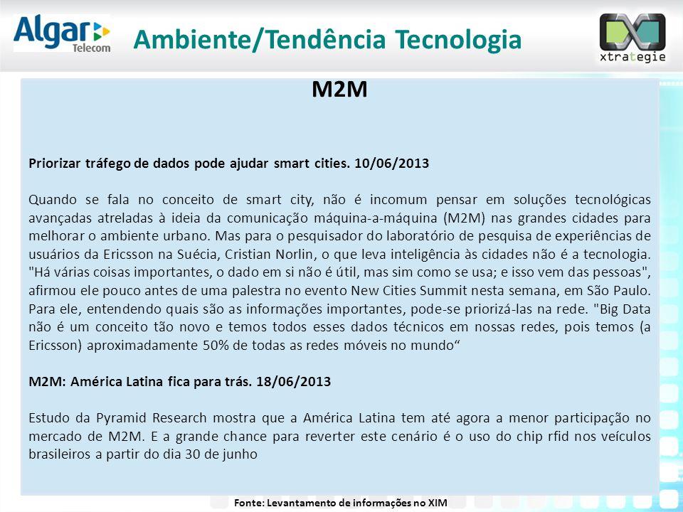 M2M Priorizar tráfego de dados pode ajudar smart cities. 10/06/2013 Quando se fala no conceito de smart city, não é incomum pensar em soluções tecnoló
