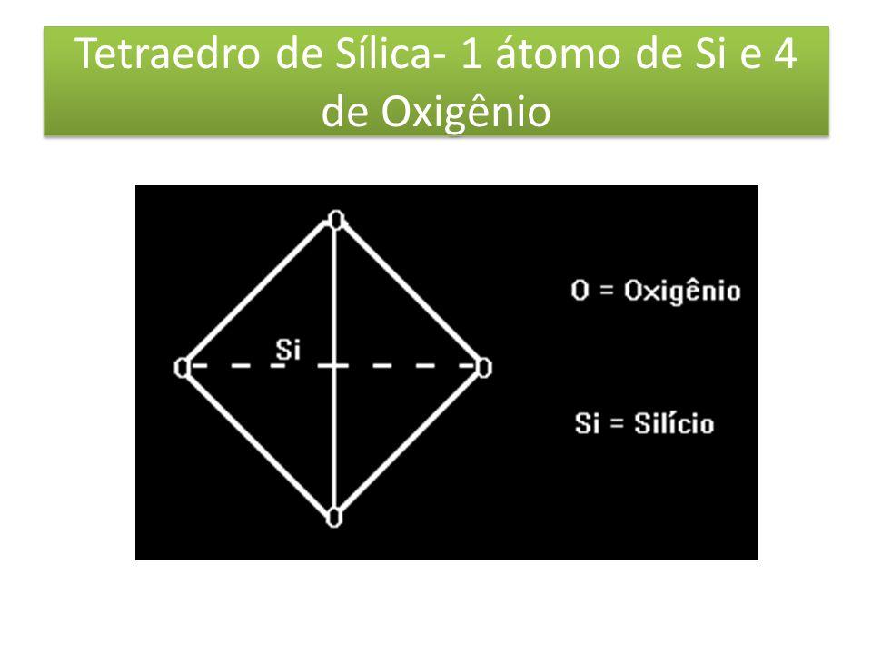 Tetraedro de Sílica- 1 átomo de Si e 4 de Oxigênio
