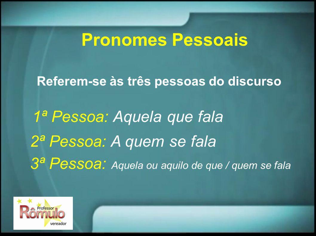 Pronomes possessivos São pronomes que indicam posse