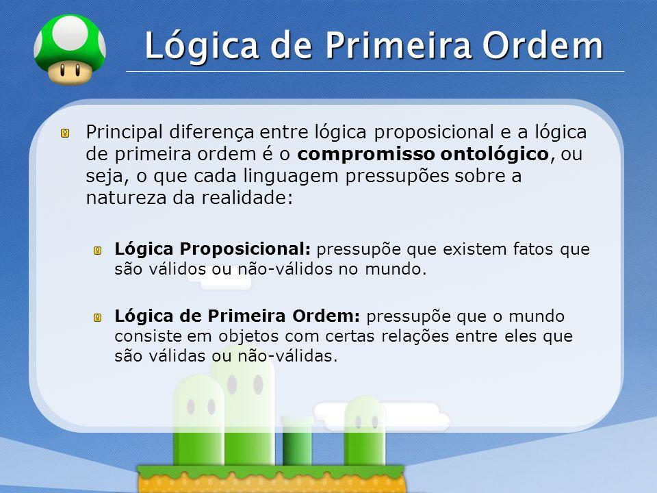 LOGO Modelos em Lógica de Primeira Ordem Modelos de uma linguagem lógica são estruturas formais que constituem os mundos possíveis em consideração.