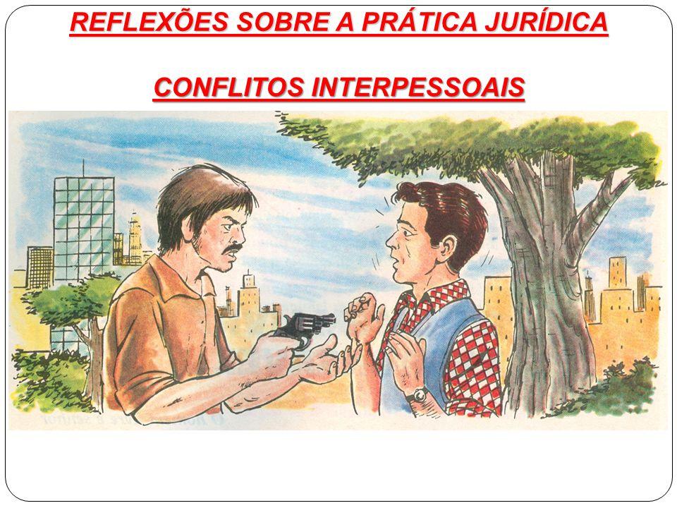 CONFLITOS INTERPESSOAIS REFLEXÕES SOBRE A PRÁTICA JURÍDICA