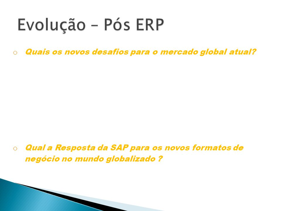 o SAP NETWEAVER é uma plataforma de integração de sistemas aberta, baseada na web, que serve como base para eSOA (enterprise service oriented architecture) e permite a integração e o alinhamento de pessoas, informações e processos empresariais.