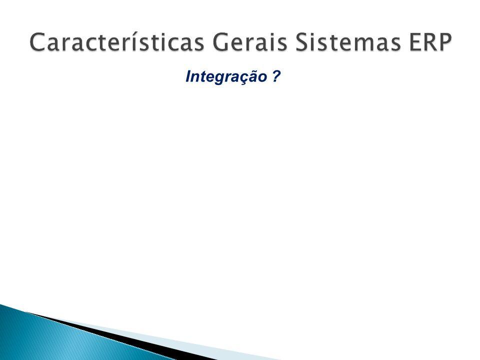 Ligação conjunta de informação e processos de setores distintos da organização Integração ?