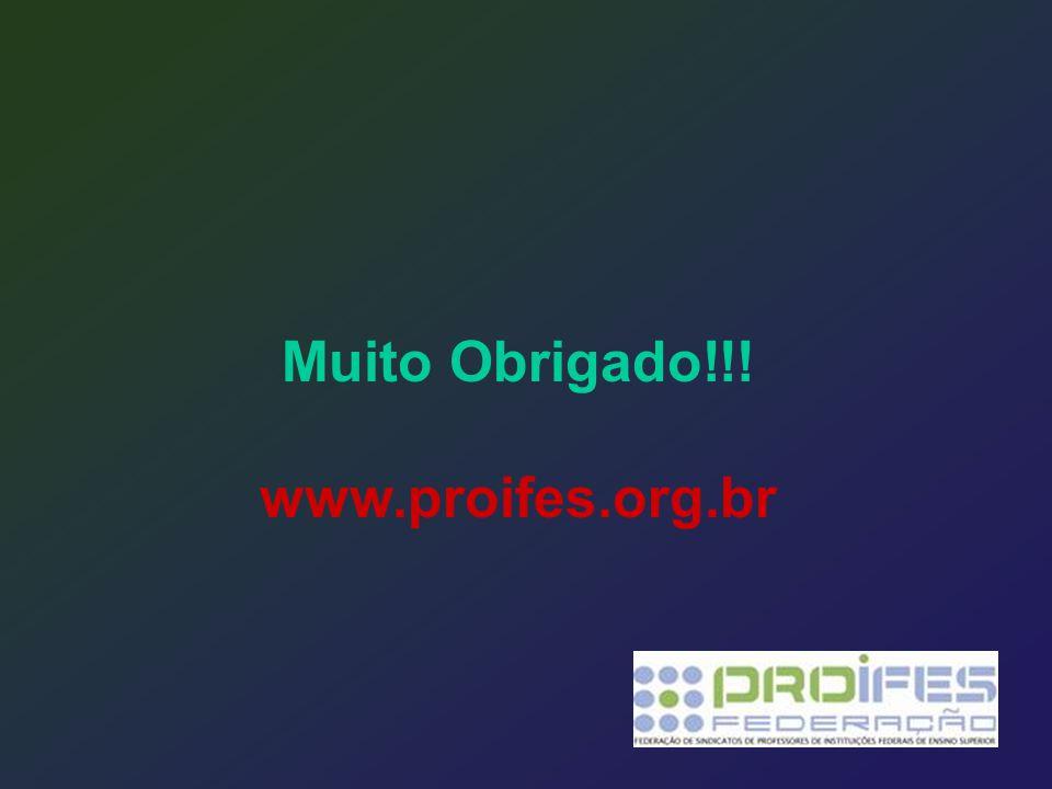 Muito Obrigado!!! www.proifes.org.br