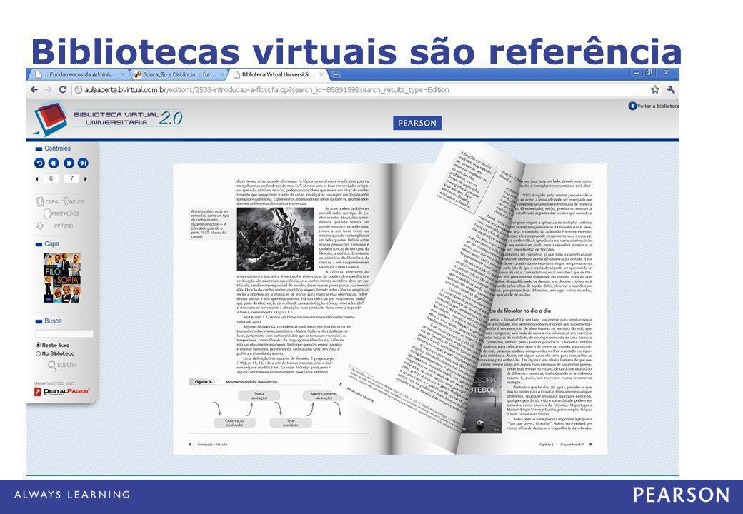 Bibliotecas virtuais são referência e pesquisa