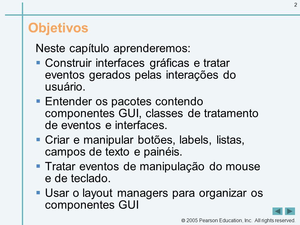  2005 by Pearson Education do Brasil 93 Resumo MouseTracker Frame.java (1 de 2)