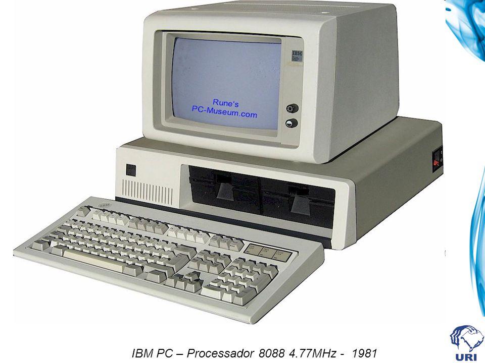 IBM PC – Processador 8088 4.77MHz - 1981