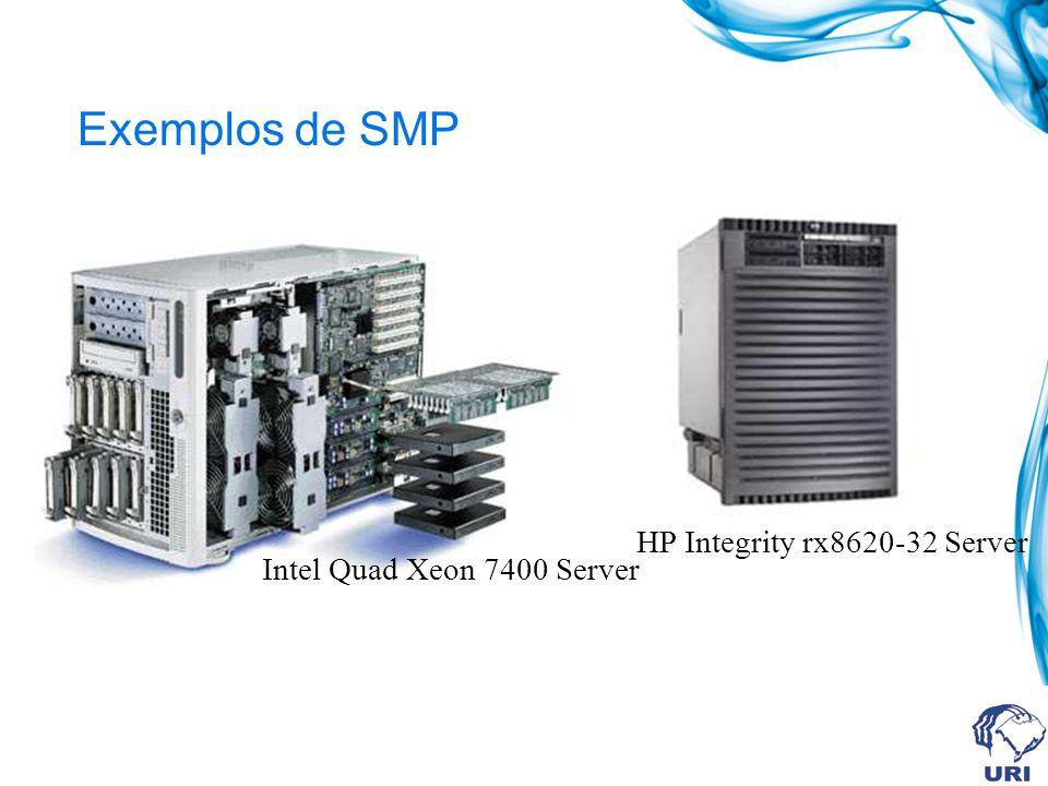 Exemplos de SMP Intel Quad Xeon 7400 Server HP Integrity rx8620-32 Server