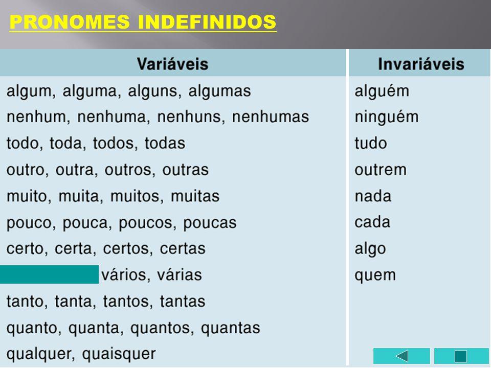 PRONOMES INDEFINIDOS