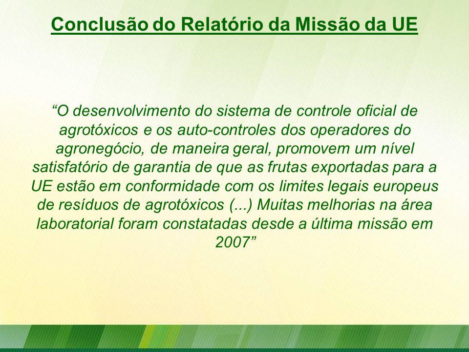 """""""O desenvolvimento do sistema de controle oficial de agrotóxicos e os auto-controles dos operadores do agronegócio, de maneira geral, promovem um níve"""