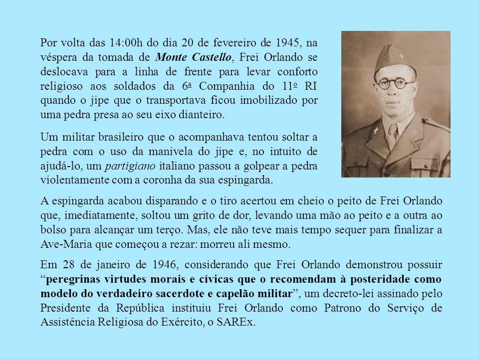 De Gaggio Montano parti para a cidade de Bombiana, onde morreu em 20/02/1945 o Capitão Antonio Alvares da Silva, conhecido como Frei Orlando.
