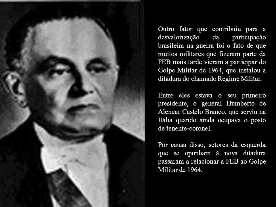 Porém, ainda que nossos soldados tenham sido recebidos com festa no seu retorno ao Brasil, Getúlio Vargas temia que a FEB fosse utilizada politicament