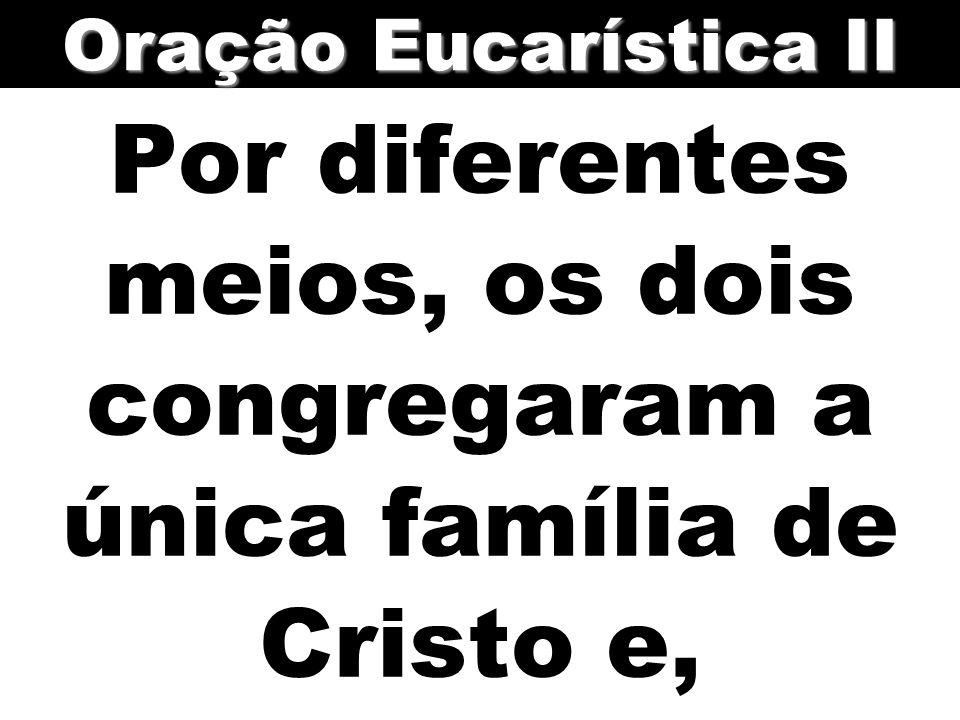 Por diferentes meios, os dois congregaram a única família de Cristo e, Oração Eucarística II