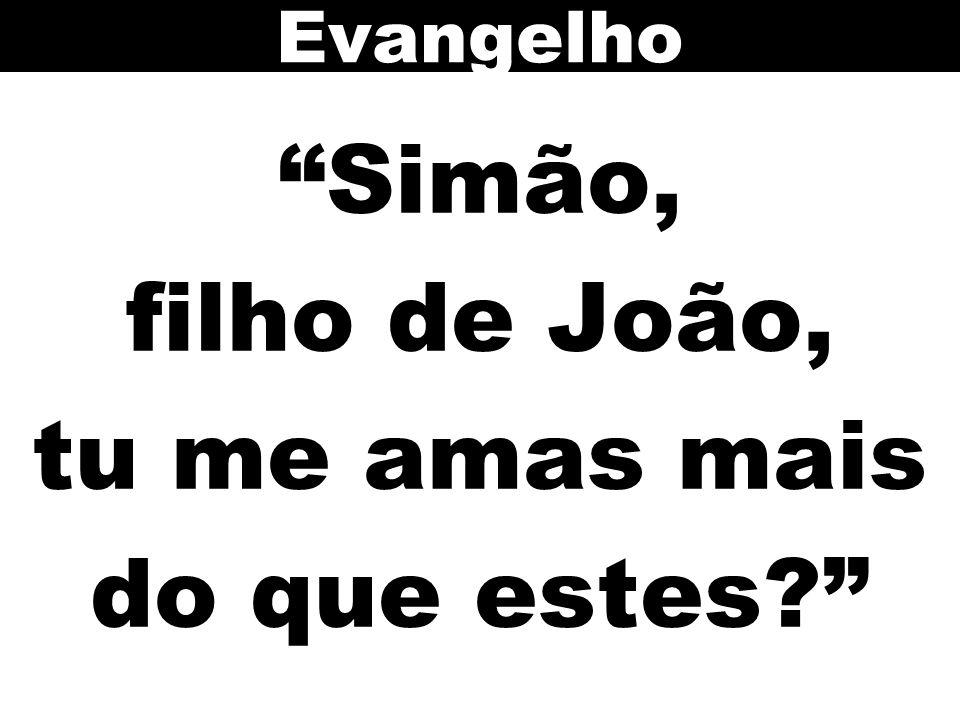 """""""Simão, filho de João, tu me amas mais do que estes?"""" Evangelho"""