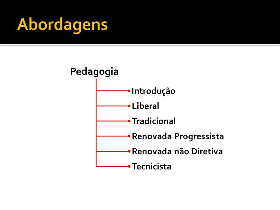 Pedagogia Liberal Tradicional Renovada Progressista Renovada não Diretiva Tecnicista Introdução
