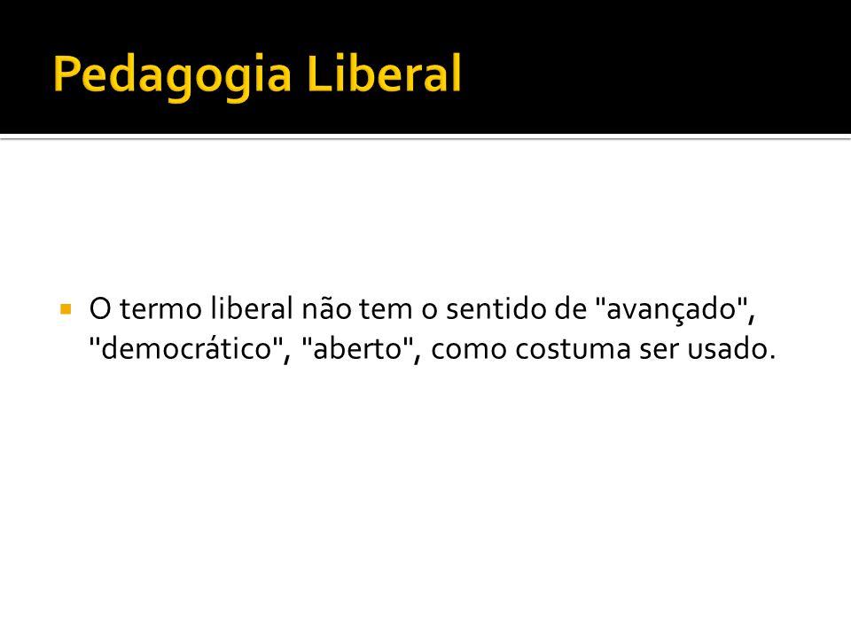  No caso do Brasil, a corrente que obteve maior repercussão foi sem dúvida o Movimento Escola Nova, influenciado pela corrente progressivista de Dewey.